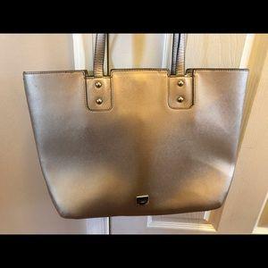 Chaps Tote Bag / Work Bag - metallic gold